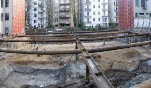 Das Foto zeigt eine Panoramaufnahme des Bebauungsgebiets Hegestraße 46 in Hamburg.
