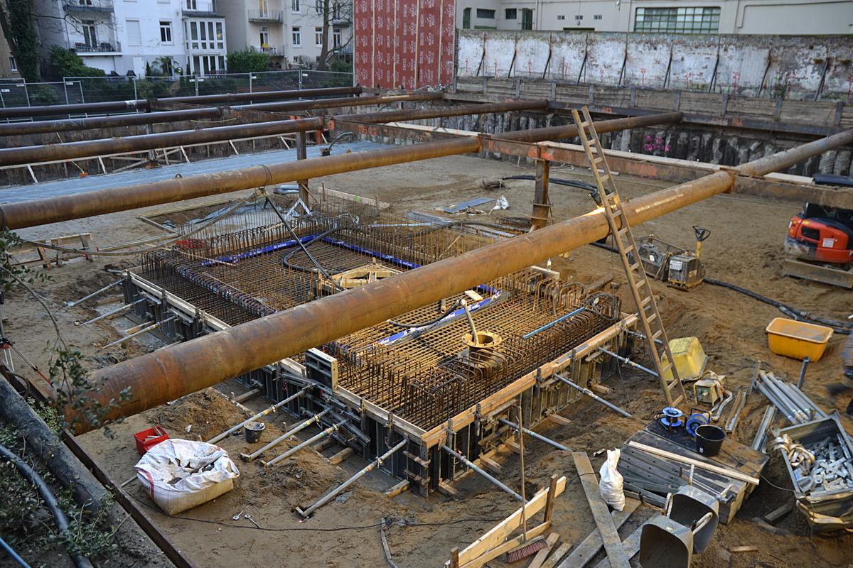 Hegestraße 46: Bauarbeiten am 17.1.2020.