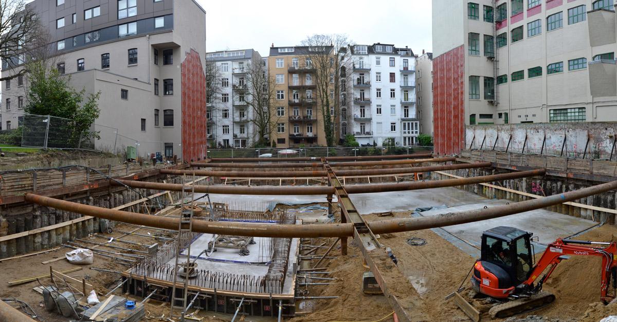 Bauarbeiten Hegestraße 46